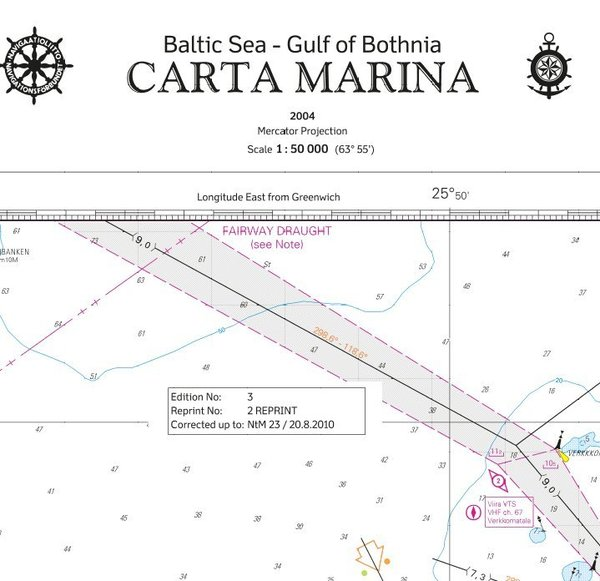 Carta Marina - Baltic Sea - Gulf of Bothnia