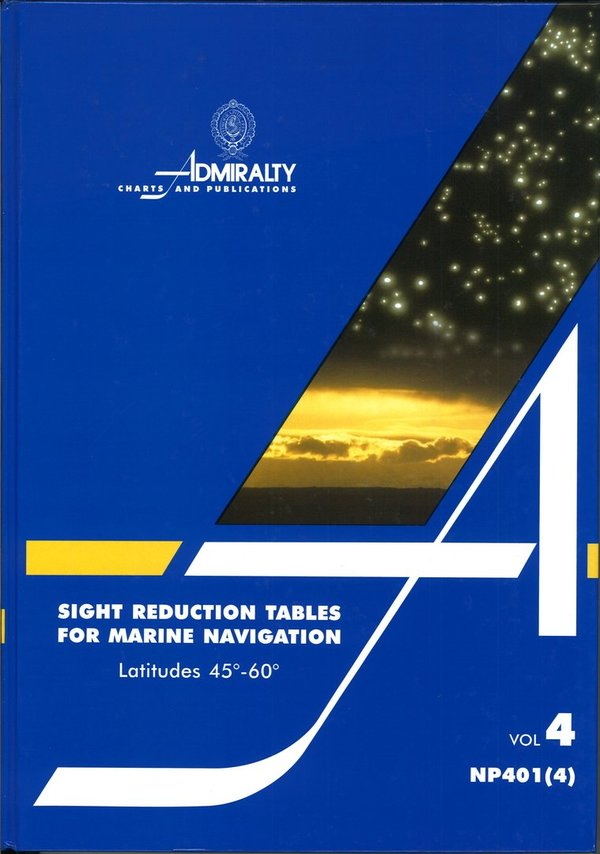 Admiralty Sight Reduction Tables, NP 401 (4)