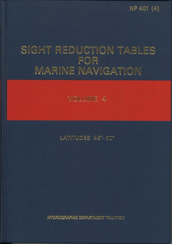 Admiralty Sight Reduction Tables, NP 401 (4), vanhempi painos