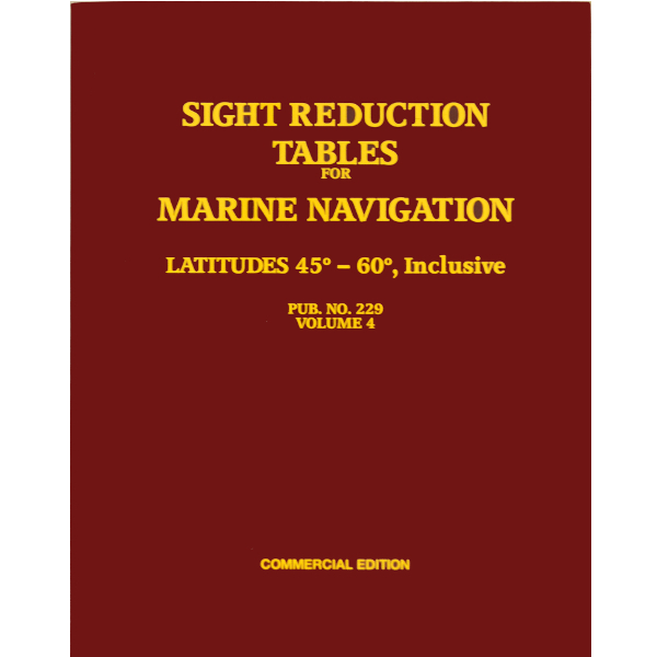 Sight reduction tables for marine navigation, vol 4