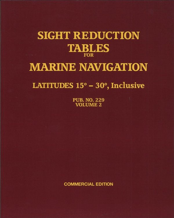 Sight reduction tables for marine navigation, vol 2