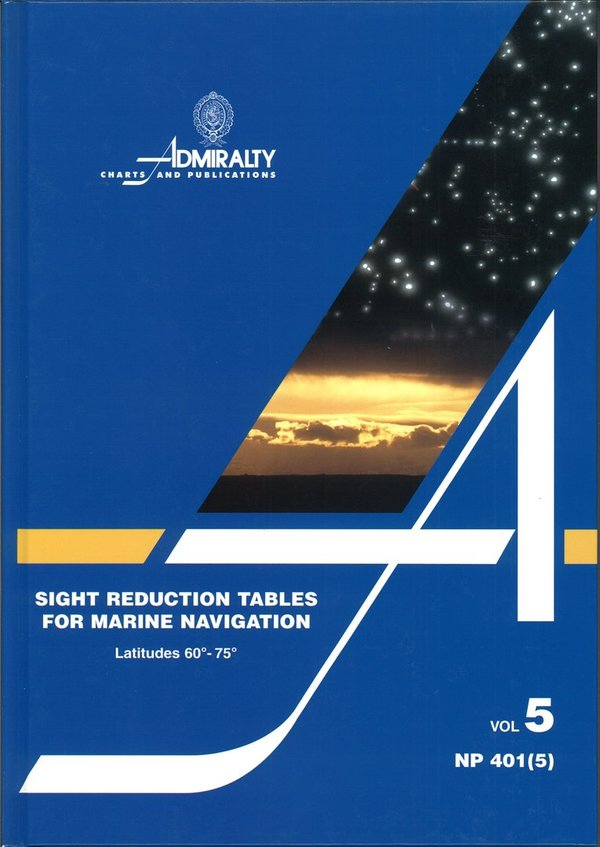Admiralty Sight Reduction Tables, NP 401 (5)