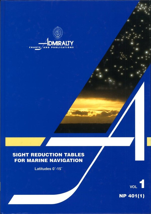 Admiralty Sight reduction Tables, NP 401 (1)