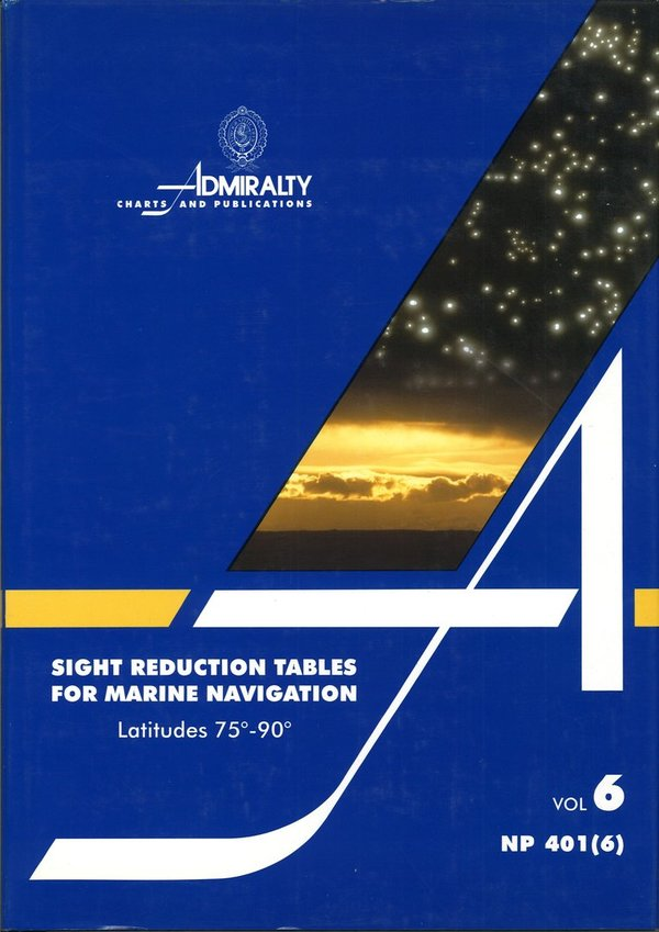 Admiralty Sight reduction Tables, NP 401 (6)