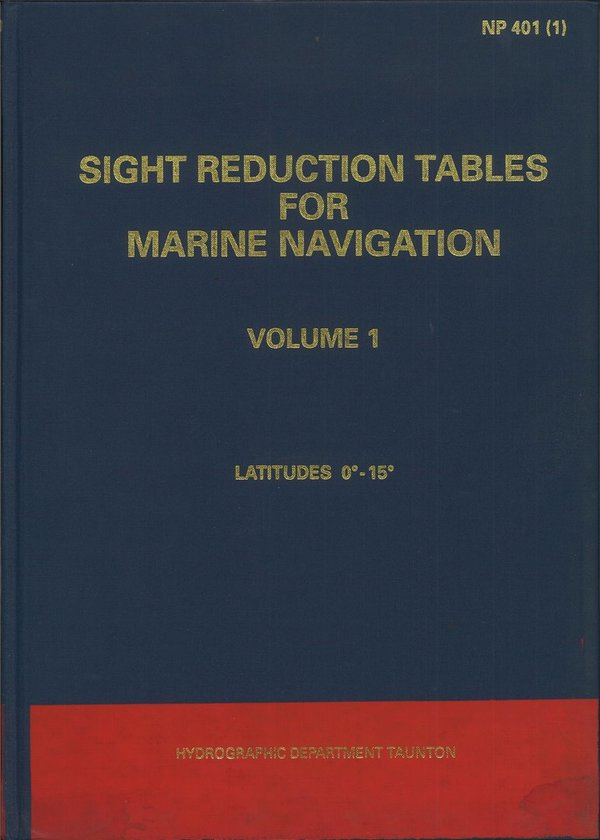 Admiralty Sight Reduction Tables, NP 401 (1), vanhempi painos
