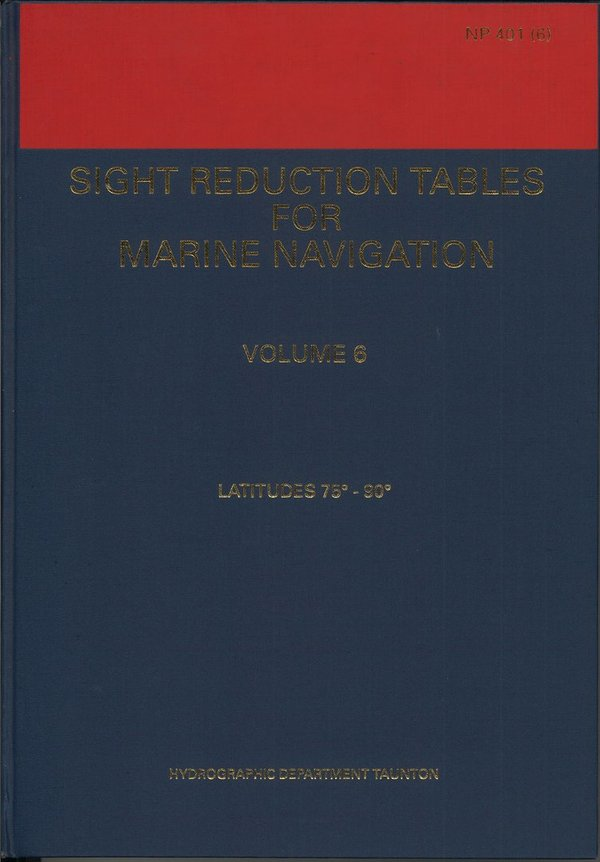 Admiralty Sight Reduction Tables, NP 401 (6), vanhempi painos